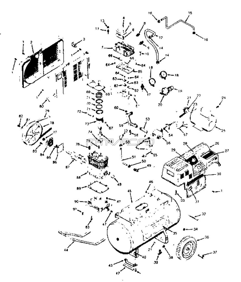 Air Compressor Pumps Craftsman Compressors Schematic 919158221