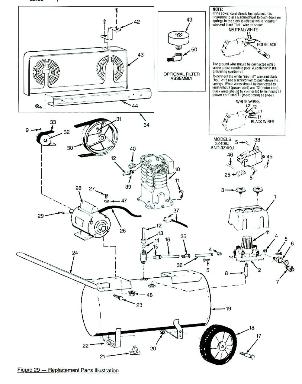 Air Compressor Pumps Speedaire Compressors Schematic 3z355j