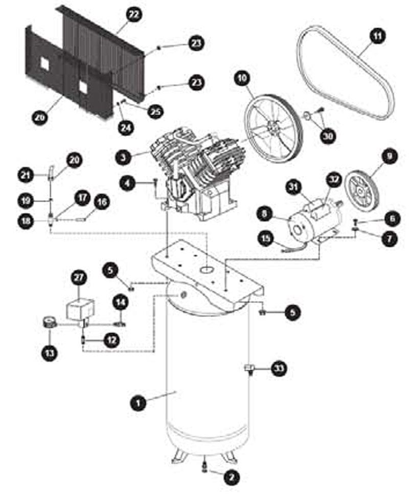 Kobalt_TQ3126_parts air compressor pumps kobalt compressors